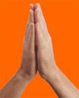Le salut Indien : Namaste