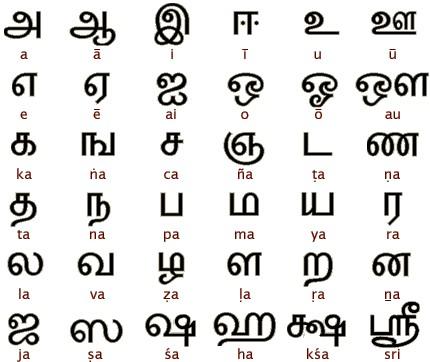 La langue tamoule