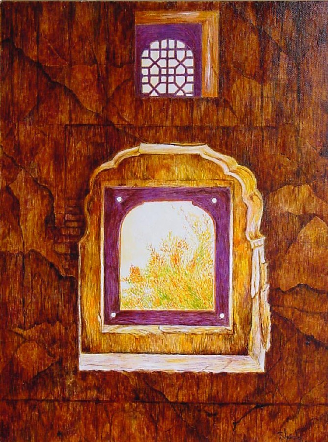 Purple stone window