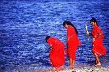 Malbaraises lors d'une cérémonie dédiée à Kâli