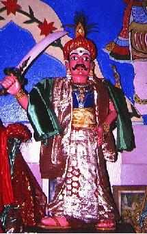 Représentation de Mardévirin dans un temple réunionnais