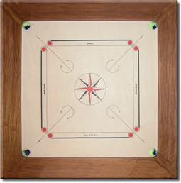 Un plateau de Carrom traditionnel