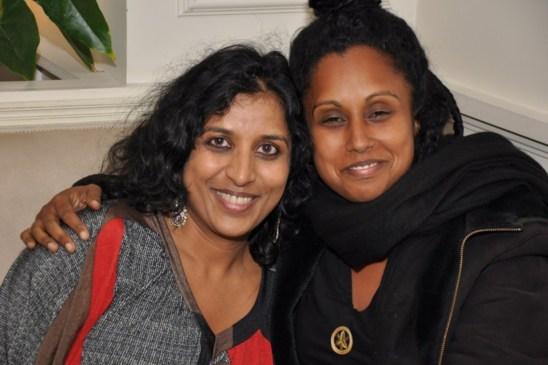 Susheela et moi avant l'interview(photo prise par Ganga d'Inde à Paris)