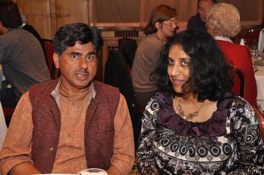 Rajagopal et moi (photo prise par Indeaparis.com)