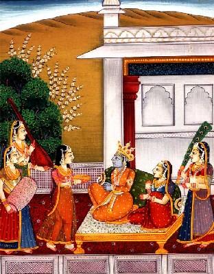 La peinture en Inde.