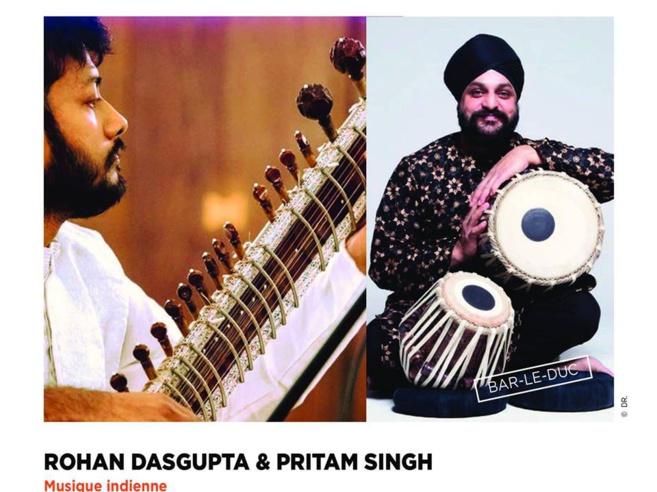Concert de musique indienne hindoustanie (musique de l'Inde du Nord) à Bar le Duc