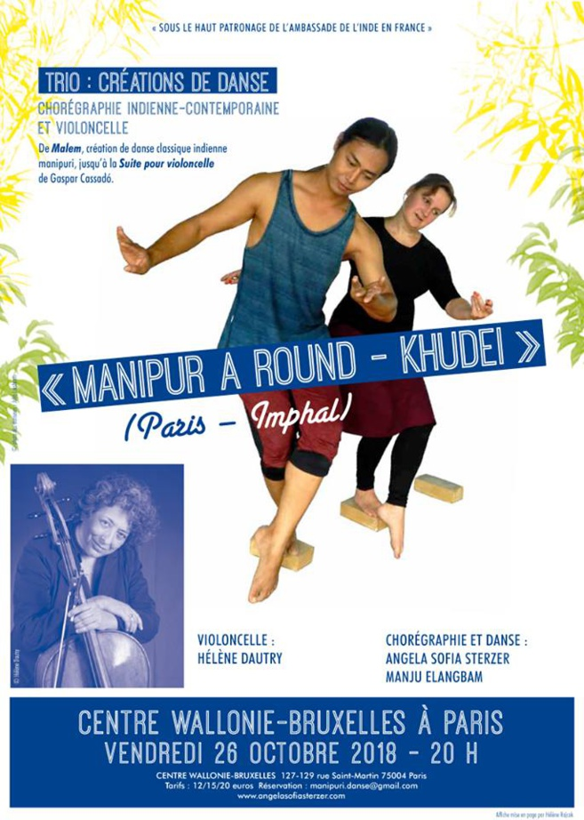 Manipuri - A dance Khudei - Un spectacle de danse indienne contemporaine le 26 octobre 2018