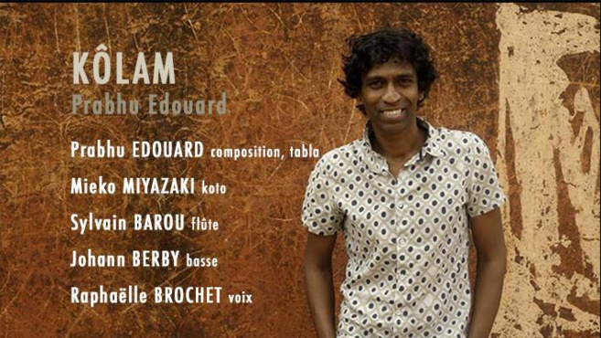 Le percussionniste Franco-Indien Prabhu Edouard au Comptoir avec Kôlam le 23 novembre