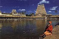 Chidambaram,  l'un des temples les plus célèbres de l'Inde, dédié à Shiva Nataraja