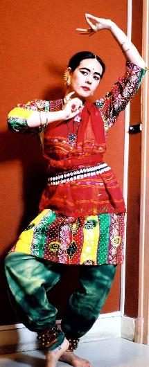 Olga en danseuse Odissi