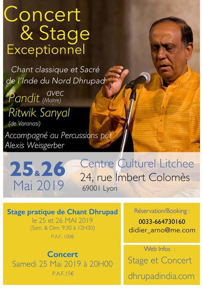 Concert de chant dhrupad à Lyon en mai