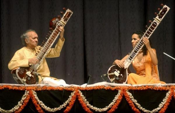 Ravi Shankar et sa fille Anushka Shankar