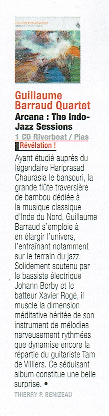 Interview de Guillaume Barraud pour la sortie d' Arcana - The Indo-jazz sessions