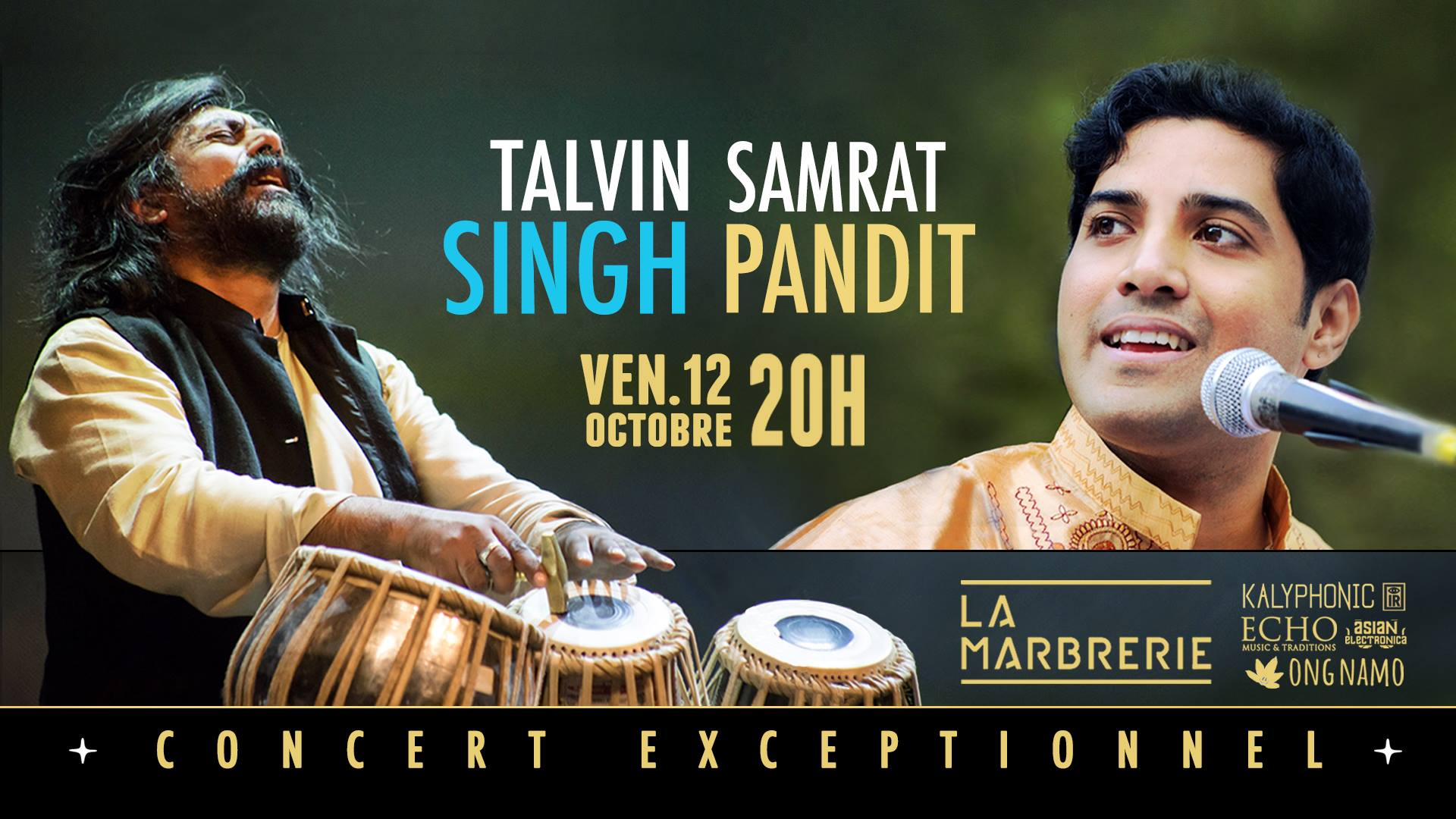 Un concert de chant Hindoustani accompagné de percussion tabla le 12 octobre