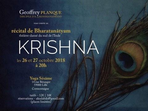 Krishna | Bharatanātyam - théâtre-dansé du sud de l'Inde le 26 octobre 2018