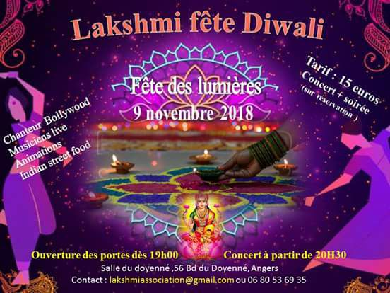 Diwali à Angers le 9 novembre