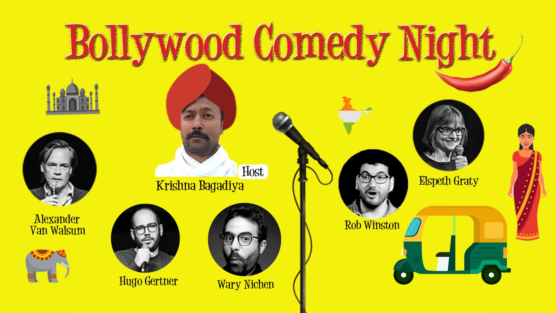 Retour du Bollywood Comedy Night le 16 novembre, Paris Place du Tertre