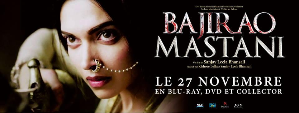 Sortie blu-ray et en DVD du film Bajirao Mastani le 27 novembre 2018