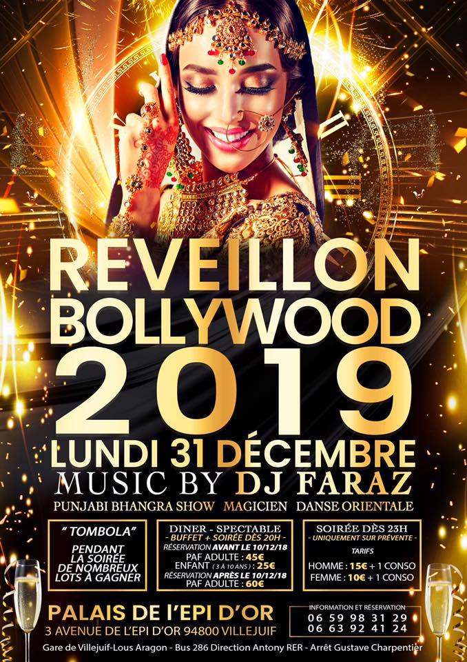 Soirée indienne Grand Réveillon Bollywood