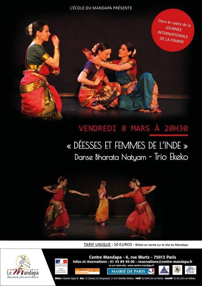Spectacle Déesses et Femmes de l'Inde au Centre Mandapa à l'occasion de la journée de la Femme