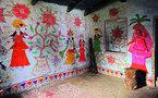"""Exposition """"Au delà des Murs"""" , femmes peintres de Mithila"""